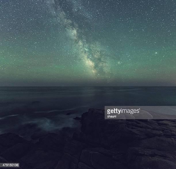 Via lattea sopra l'oceano Atlantico