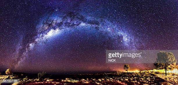 Milky way panorama in  Kings Canyon