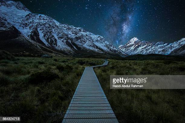 Milky Way Rising Above Mount Cook National Park