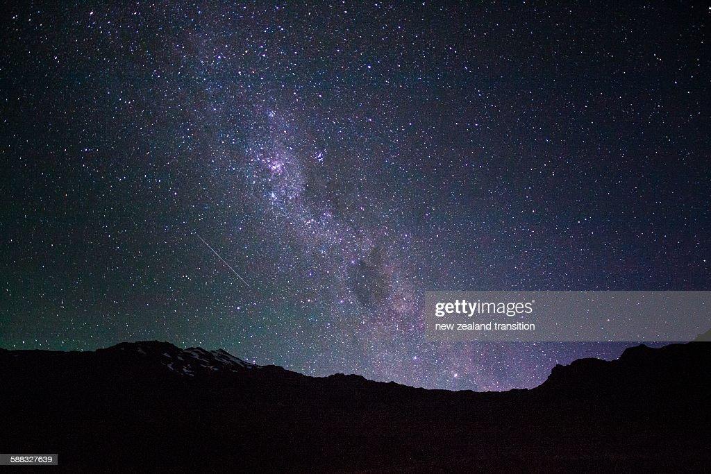 Milky Way rising over mt ruapehu
