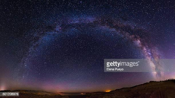 Milky way, scenic view of night sky