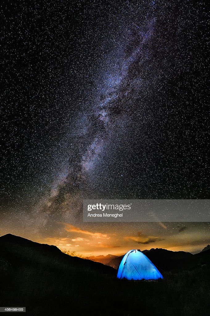 Milky Way with night camp