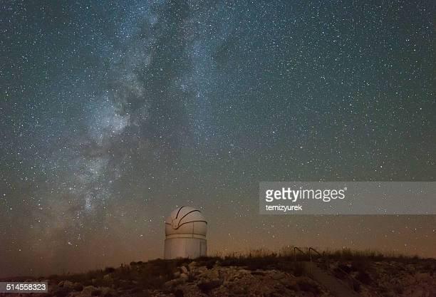 Milky Way with Telescope