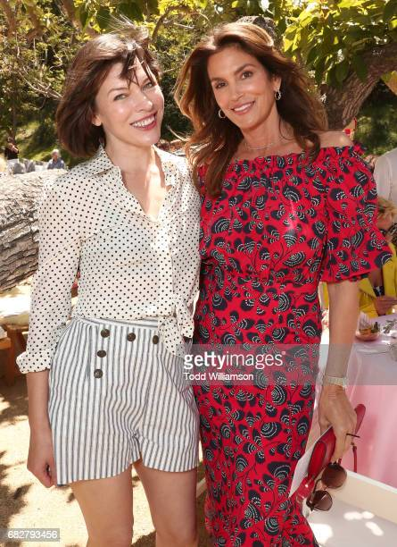 Milla Jovovich and Cindy Crawford attend Mother's Day Weekend Brunch Hosted By Best Buddies Global Ambassador Cindy Crawford And Daughter Kaia Gerber...