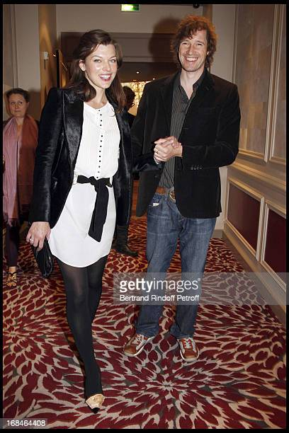 Milla Jovovich And Paul Anderson at Balmain Ready To Wear Spring Summer 2009 Fashion Show At Hotel Westin In Paris