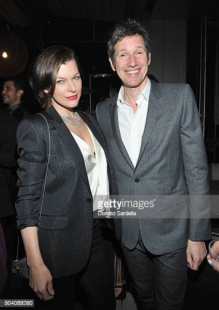 Milla Jovovich and Paul W S Anderson attend Photographs by Kelly Klein Hosted by Barry Diller and Jason Weinberg at BOA Steakhouse on January 8 2016...