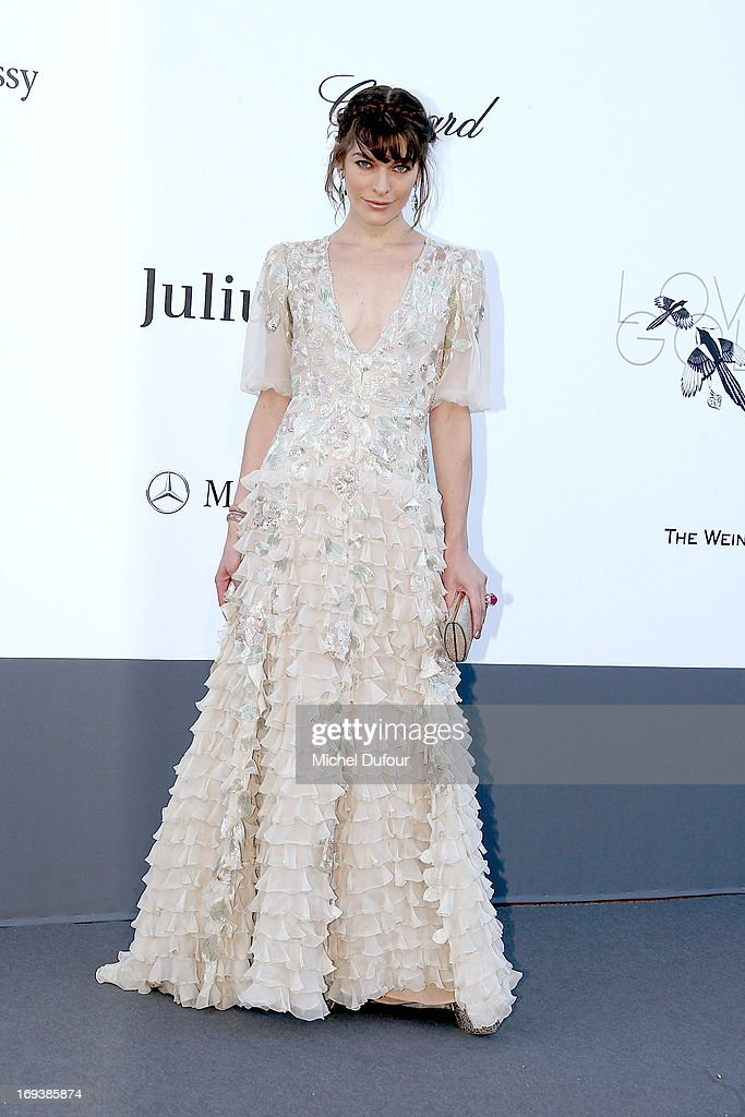 <a gi-track='captionPersonalityLinkClicked' href=/galleries/search?phrase=Milla+Jovovich&family=editorial&specificpeople=202207 ng-click='$event.stopPropagation()'>Milla Jovovich</a> arrives at amfAR's 20th Annual Cinema Against AIDS at Hotel du Cap-Eden-Roc on May 23, 2013 in Cap d'Antibes, France.