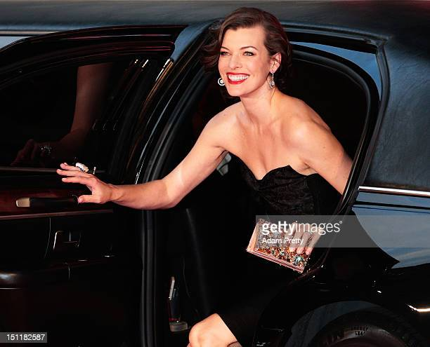 Milla Jovovich arrives at the red carpet for the 'Resident Evil Retribution' World Premiere at Roppongi Hills on September 3 2012 in Tokyo Japan The...