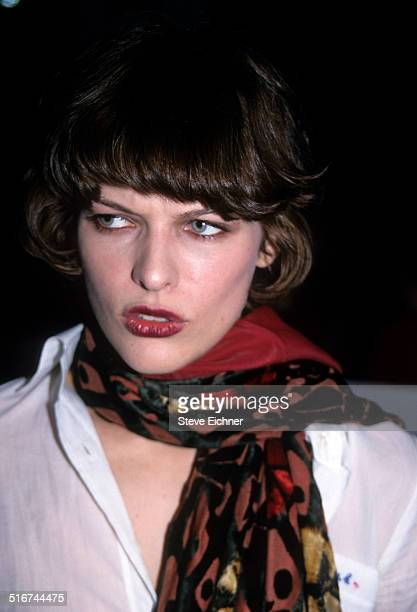 Milla Jovovich at Marc Jacobs Fashion Show New York November 3 1997