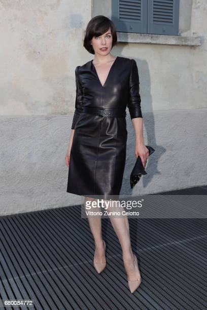Milla Jovovich attends a 'Private view of 'TV 70 Francesco Vezzoli Guarda La Rai' at Fondazione Prada on May 7 2017 in Milan Italy