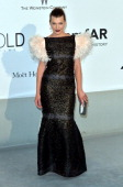 Milla Jovovich attends amfAR's 21st Cinema Against AIDS Gala Presented By WORLDVIEW BOLD FILMS And BVLGARI at the 67th Annual Cannes Film Festival on...