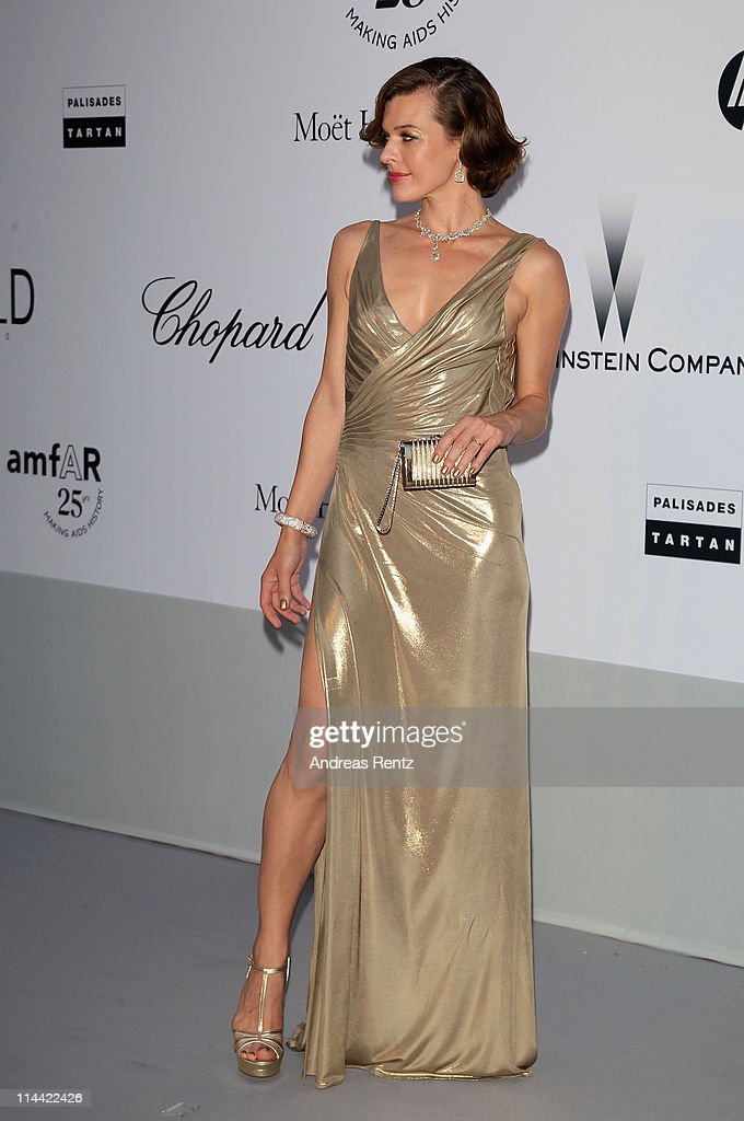 Milla Jovovich attends amfAR's Cinema Against AIDS Gala during the 64th Annual Cannes Film Festival at Hotel Du Cap on May 19, 2011 in Antibes, France.