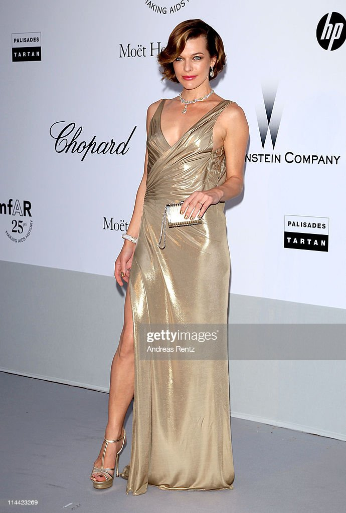 <a gi-track='captionPersonalityLinkClicked' href=/galleries/search?phrase=Milla+Jovovich&family=editorial&specificpeople=202207 ng-click='$event.stopPropagation()'>Milla Jovovich</a> attends amfAR's Cinema Against AIDS Gala during the 64th Annual Cannes Film Festival at Hotel Du Cap on May 19, 2011 in Antibes, France.