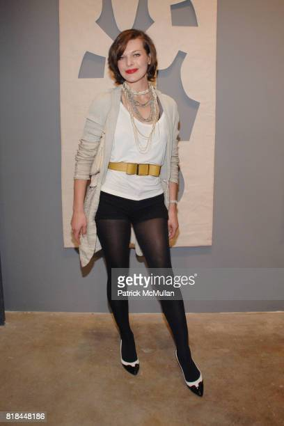 Milla Jovovich attends CALVIN KLEIN COLLECTION LOS ANGELES NOMADIC DIVISION CELEBRATE LA ARTS MONTH ART LOS ANGELES CONTEMPORARY at Los Angeles on...