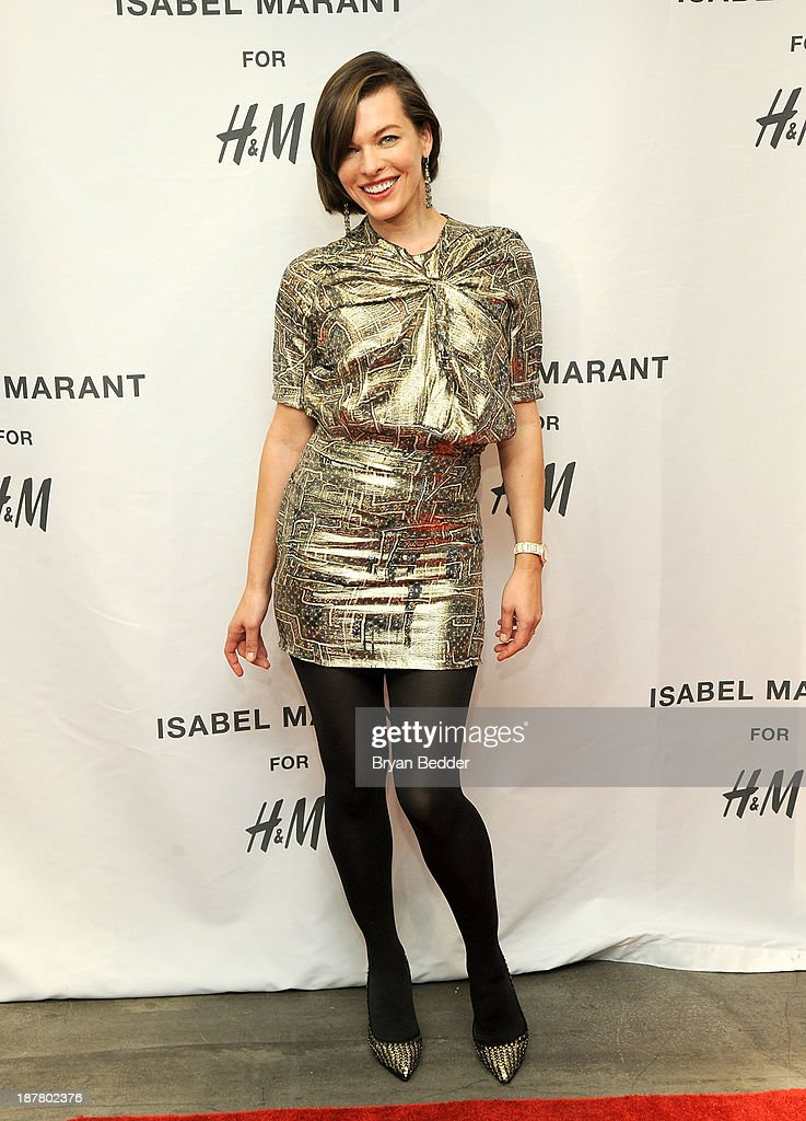 <a gi-track='captionPersonalityLinkClicked' href=/galleries/search?phrase=Milla+Jovovich&family=editorial&specificpeople=202207 ng-click='$event.stopPropagation()'>Milla Jovovich</a> attends H&M Isabel Marant VIP Pre-Shopping Event at H&M Fifth Avenue on November 12, 2013 in New York City.