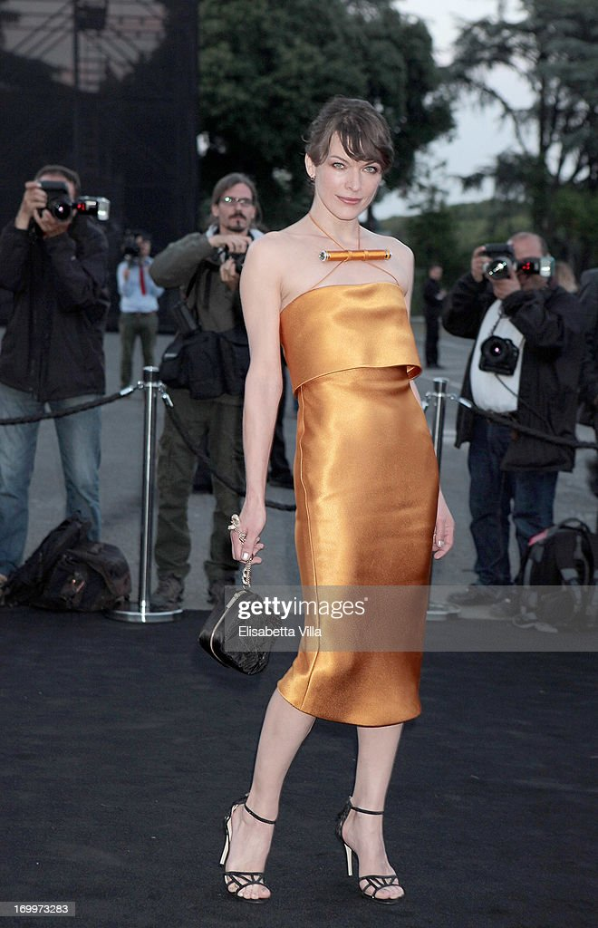 <a gi-track='captionPersonalityLinkClicked' href=/galleries/search?phrase=Milla+Jovovich&family=editorial&specificpeople=202207 ng-click='$event.stopPropagation()'>Milla Jovovich</a> attends 'One Night Only' Roma hosted by Giorgio Armani on June 5, 2013 in Rome, Italy.