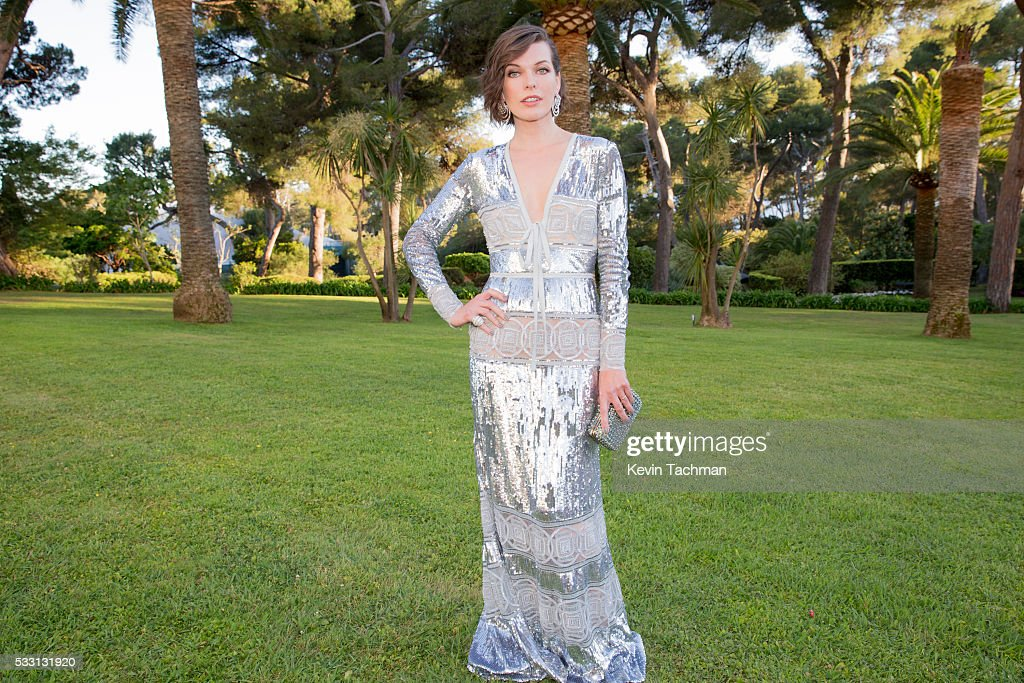 Milla Jovovich attends the amfAR's 23rd Cinema Against AIDS Gala at Hotel du CapEdenRoc on May 19 2016 in Cap d'Antibes France