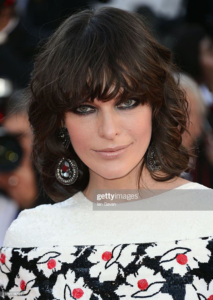 Milla Jovovich attends the 'Blood Ties' Premiere during the 66th Annual Cannes Film Festival at Grand Theatre Lumiere on May 20, 2013 in Cannes, France.