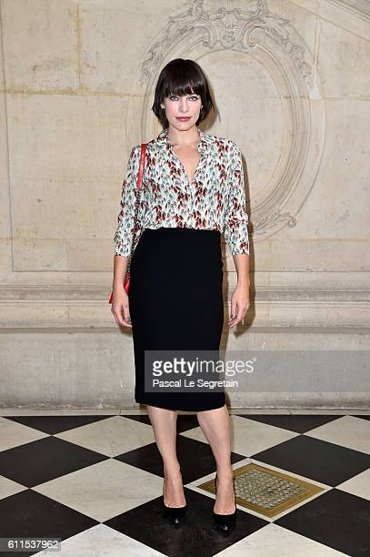Milla Jovovich attends the Christian Dior show of the Paris Fashion Week Womenswear Spring/Summer 2017 on September 30 2016 in Paris France