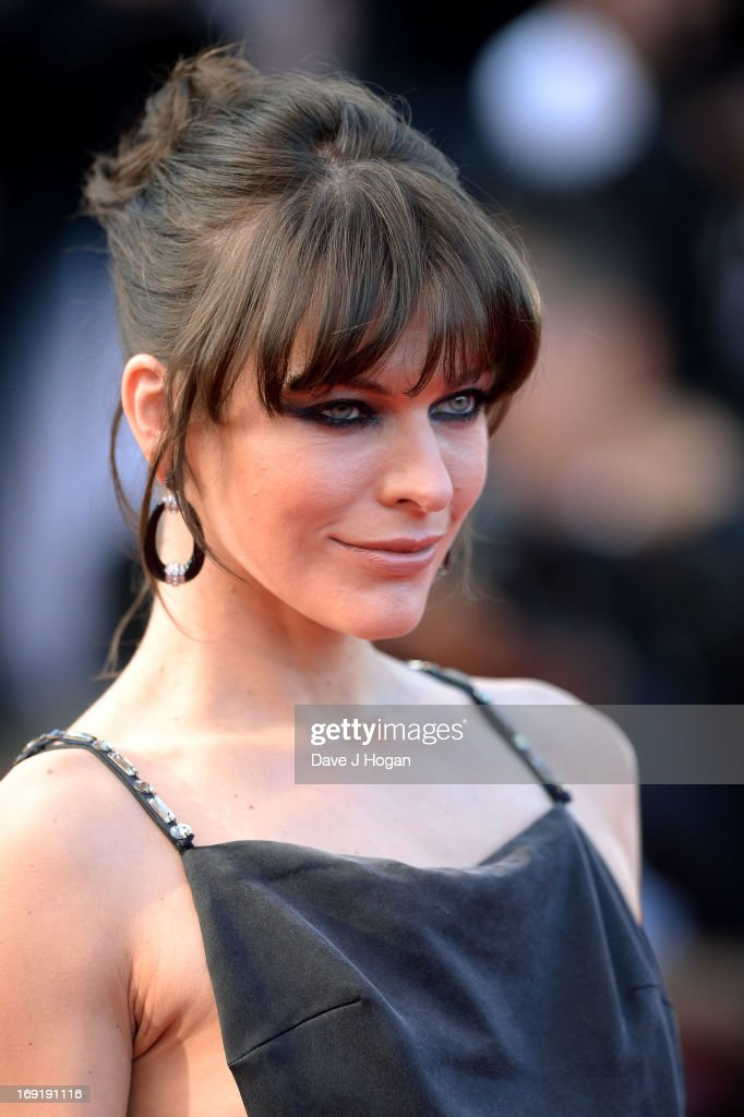 Milla Jovovich attends the 'Cleopatra' premiere during The 66th Annual Cannes Film Festival at The 60th Anniversary Theatre on May 21, 2013 in Cannes, France.