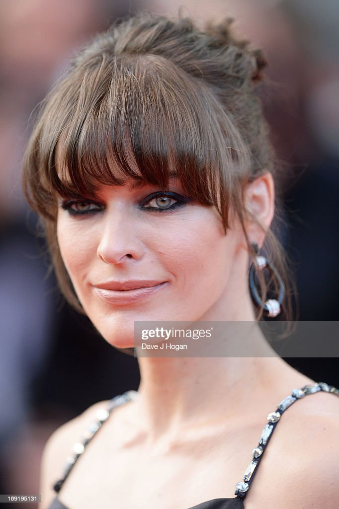 Milla Jovovich attends the 'Cleopatra' Premiere during the 66th Annual Cannes Film Festival at Grand Theatre Lumiere on May 21, 2013 in Cannes, France.