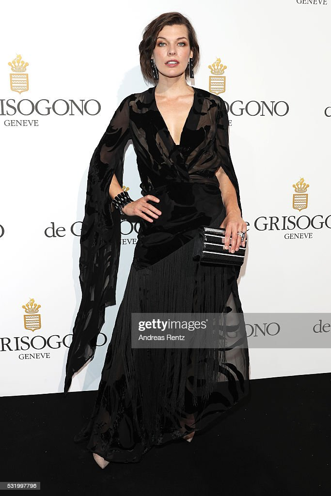 <a gi-track='captionPersonalityLinkClicked' href=/galleries/search?phrase=Milla+Jovovich&family=editorial&specificpeople=202207 ng-click='$event.stopPropagation()'>Milla Jovovich</a> attends the De Grisogono Party at the annual 69th Cannes Film Festival at Hotel du Cap-Eden-Roc on May 15, 2016 in Cap d'Antibes, France.