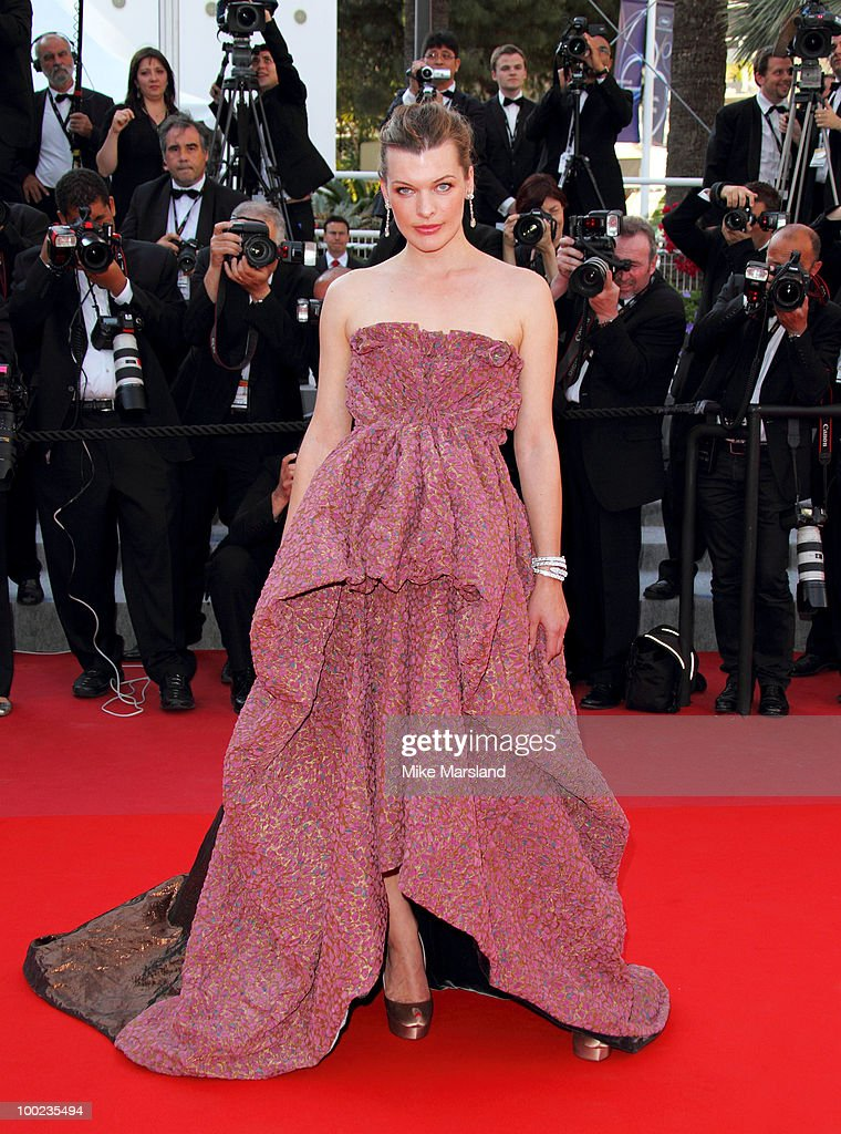 Milla Jovovich attends 'The Exodus - Burnt By The Sun 2' Premiere held at the Palais des Festivals during the 63rd Annual International Cannes Film Festival on May 22, 2010 in Cannes, France.