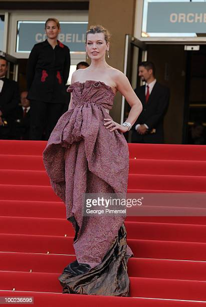 Milla Jovovich attends 'The Exodus Burnt By The Sun 2' Premiere held at the Palais des Festivals during the 63rd Annual International Cannes Film...