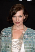 Milla Jovovich attends the Giorgio Armani Prive show as part of Paris Fashion Week HauteCouture Fall/Winter 20132014 at Theatre National de Chaillot...