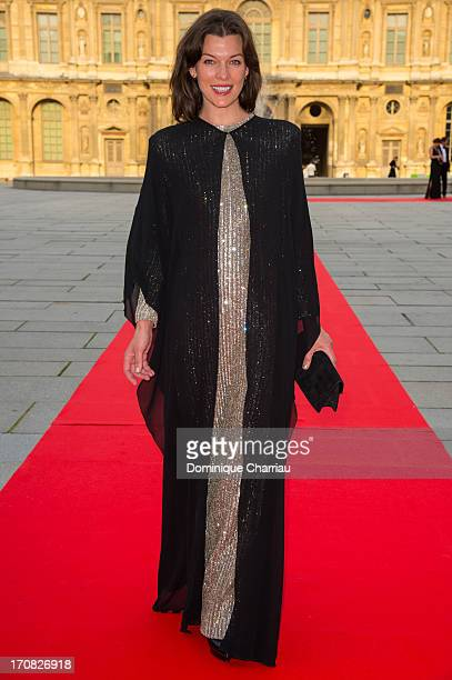 Milla Jovovich attends the 'Liaisons Au Louvre III' Charity Gala Dinner Hosted by American International Friends of Le Louvre at Cour Carree du...