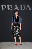 Milla Jovovich attends the Prada show during Milan Men's Fashion Week SS17 on June 19 2016 in Milan Italy