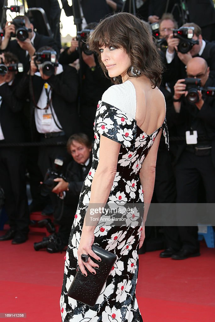 Milla Jovovich attends the Premiere of 'Blood Ties' during the 66th Annual Cannes Film Festival at the Palais des Festivals on May 20, 2013 in Cannes, France.