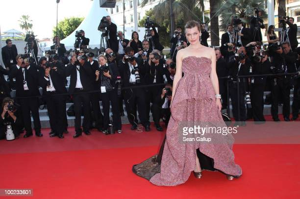 Milla Jovovich attends the 'The Exodus Burnt By The Sun' Premiere at the Palais des Festivals during the 63rd Annual Cannes Film Festival on May 22...