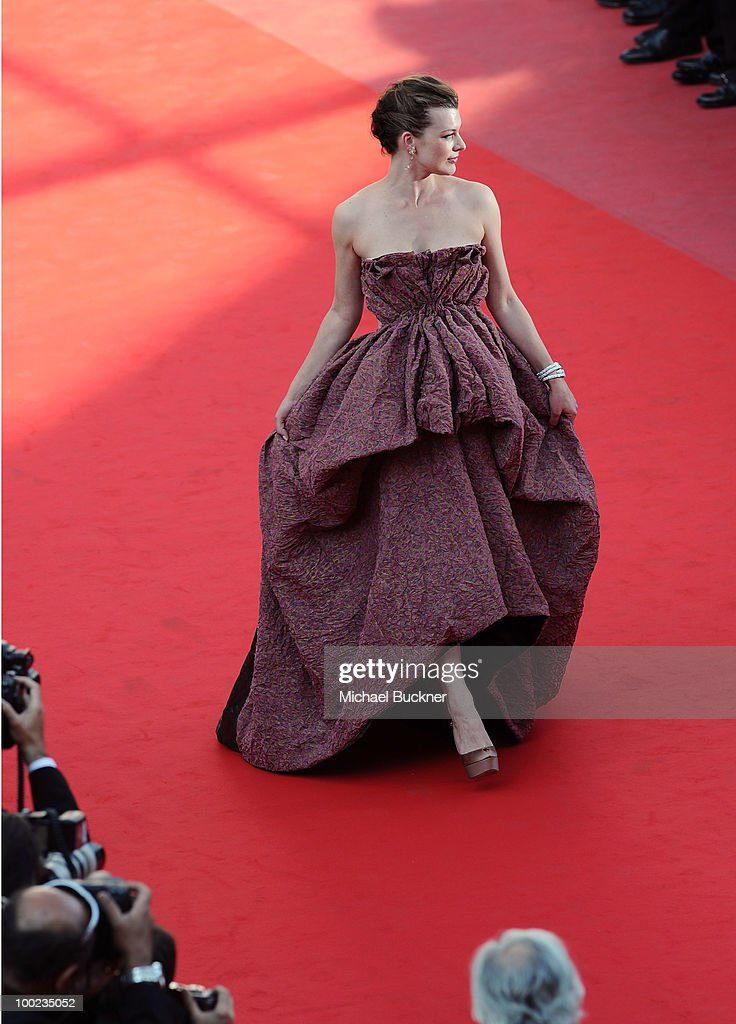 <a gi-track='captionPersonalityLinkClicked' href=/galleries/search?phrase=Milla+Jovovich&family=editorial&specificpeople=202207 ng-click='$event.stopPropagation()'>Milla Jovovich</a> attends the 'The Exodus - Burnt By The Sun' Premiere at the Palais des Festivals during the 63rd Annual Cannes Film Festival on May 22, 2010 in Cannes, France.