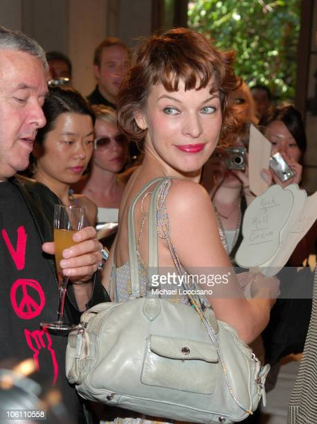 Milla Jovovich designer during Olympus Fashion Week Spring 2007 JovovichHawk Presentation at Adrian Ruhel Boutique in New York City New York United...