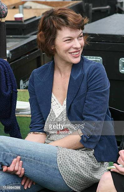 Milla Jovovich designer of JovovichHawk during The Lexus Fashion Preview with Vogue August 19 2006 in Pebble Beach California United States Photo by...