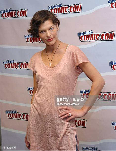 Milla Jovovich during 2006 New York ComicCon Day 2 Milla Jovovich Autograph Signing and Press Conference at Jacob Javits Center in New York New York...