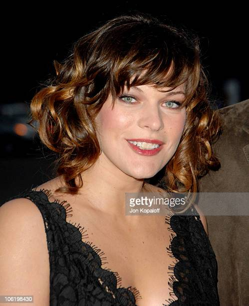 Milla Jovovich during 2007/2008 Chanel Cruise Show Presented by Karl Lagerfeld at Hangar 8 in Santa Monica California United States