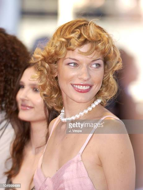 Milla Jovovich during Cannes 2002 'Searching for Debra Winger' Premiere in Cannes France