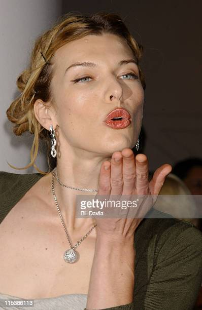 Milla Jovovich during 'dummy' New York Premiere Inside Arrivals at Loews Theater Lincoln Square in New York City New York United States