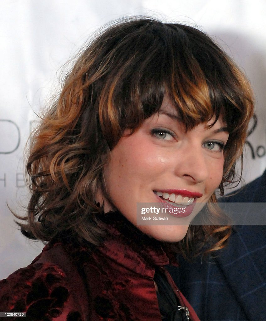 Milla Jovovich during Los Angeles Confidential Magazine in Association with Morgans Hotel Group Celebrates the 2007 Oscars with Forest Whitaker, Rob Clark and Hendrix Electric Vodka - Arrivals at Skybar at Mondrian Hotel in Los Angeles, California, United States.