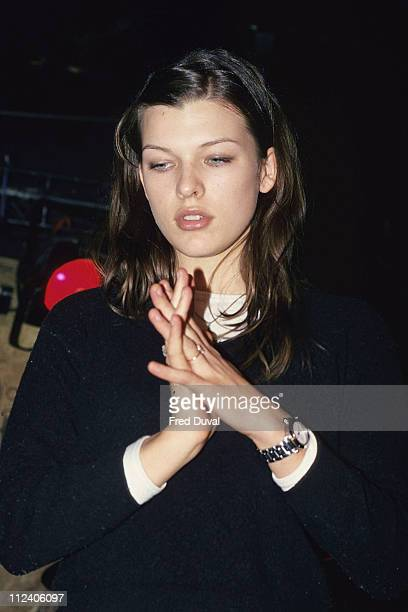 Milla Jovovich during Milla Jovovich Playing Live at Boarderline in London February 1994 at Boarderline in London Great Britain