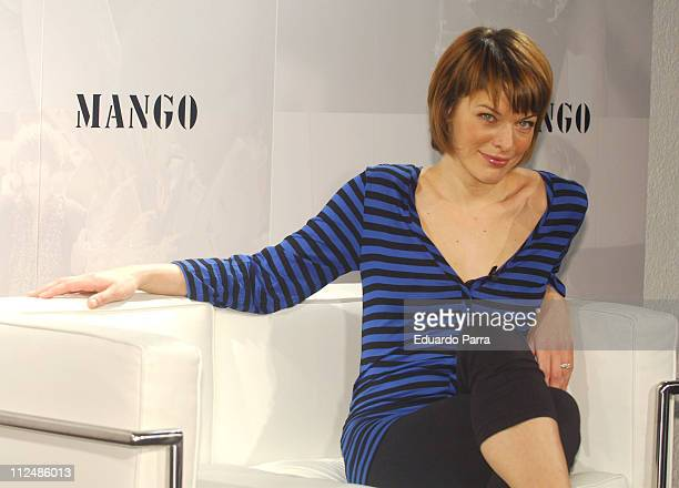 Milla Jovovich during Milla Jovovich Unveiled as the New Face of Mango Madrid Photocall at Mango in Madrid Spain