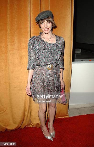 Milla Jovovich during The Weinstein Company/Glamour 2006 Golden Globes After Party at Trader Vic's in Beverly Hilton Hotel California United States