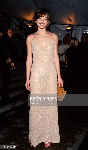 Milla Jovovich during Tommy Hilfiger 'Rock Style' Exhibit at The Metropolitan Museum of Art at Metropolitan Museum of Art in New York City New York...