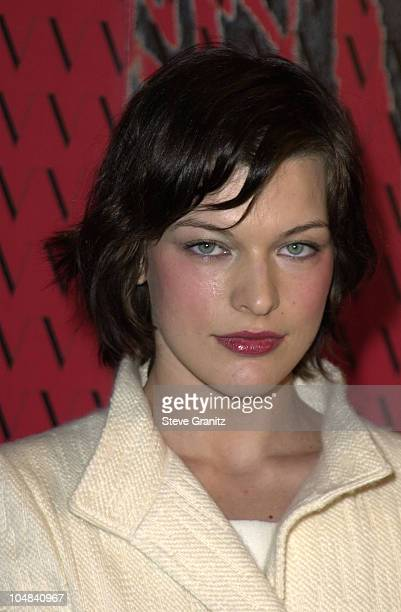 Milla Jovovich during Valentino's 40th Anniversary to Benefit Children's Action Network at Pacific Design Center in Los Angeles California United...