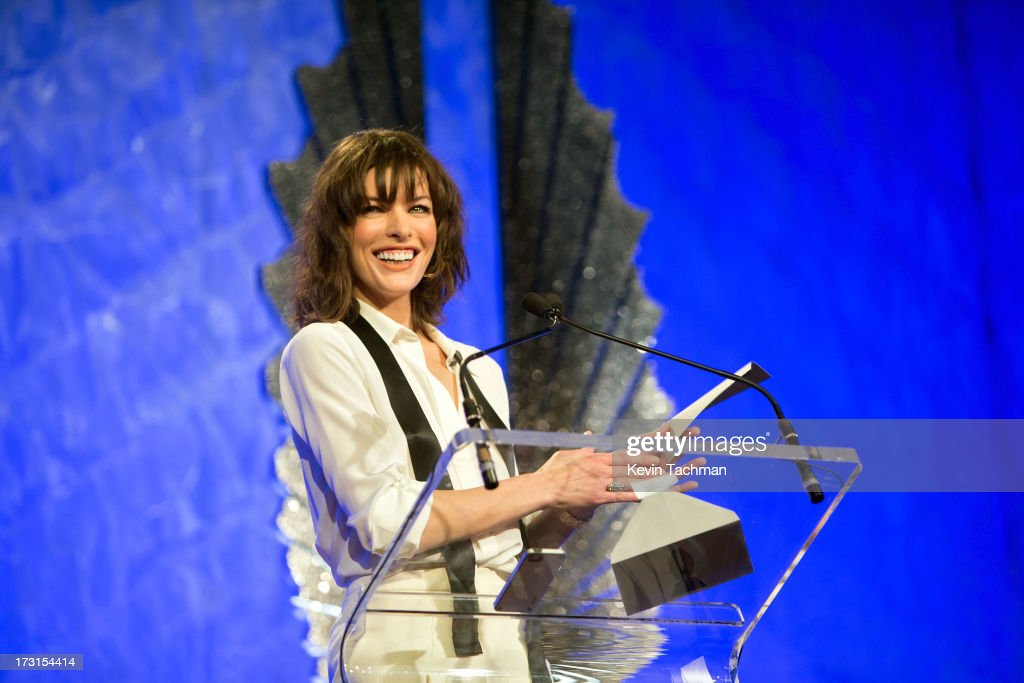 <a gi-track='captionPersonalityLinkClicked' href=/galleries/search?phrase=Milla+Jovovich&family=editorial&specificpeople=202207 ng-click='$event.stopPropagation()'>Milla Jovovich</a> onstage at the 24th annual GLAAD Media awards at The New York Marriott Marquis on March 16, 2013 in New York City.