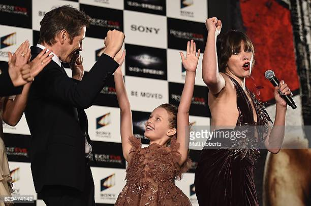 Milla Jovovich Paul W S Anderson and Lee Raviv attend the world premiere of 'Resident Evil The Final Chapter' at the Roppongi Hills on December 13...