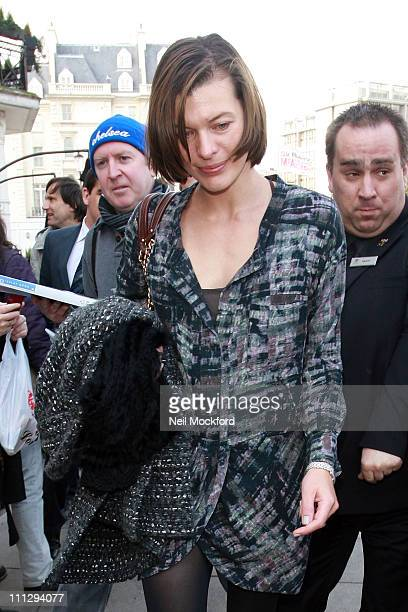 Milla Jovovich sighted leaving her home on March 31 2011 in London England
