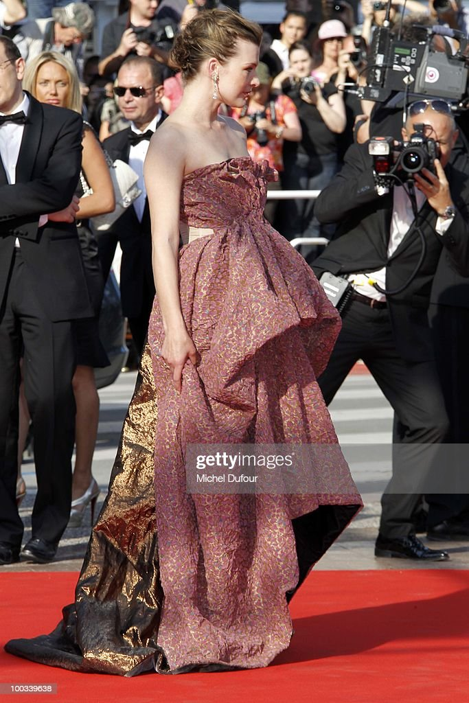 Milla Jovovitch attends the premiere of 'The Exodus - Burnt By The Sun' Premiere at the Palais des Festivals during the 63rd Annual Cannes Film Festival on May 22, 2010 in Cannes, France.